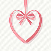 Valentines heart decoration  from ribbon — Vetorial Stock