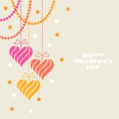 Valentines decoration with cute hearts — Vetorial Stock