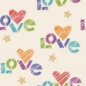 Vintage romantic stencil seamless pattern — Vector de stock