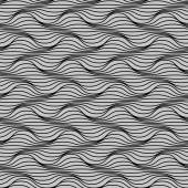 Seamless pattern of wavy lines — Stock Vector