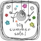 Grande venda de verão — Vetor de Stock