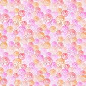 Festive seamless  pattern with doodle — Vetor de Stock