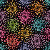 Seamless pattern with lights fireworks — Stock vektor