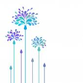 Background with blue stylized flower — Stock Vector