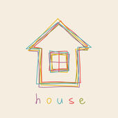 Hand drawn house icon — Stock Vector