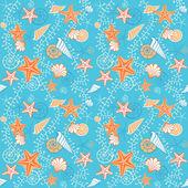 Seamless retro sea blue pattern — Vector de stock