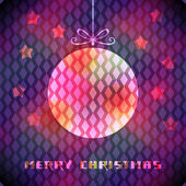 Christmas background with sparkling decoration — Vector de stock