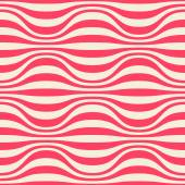 Seamless pattern with wavy strips — Stock Vector