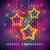 Christmas card with star decoration — Vettoriale Stock