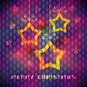 Christmas card with star decoration — Vecteur