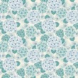 Seamless floral cute blue pattern — Stock Vector #59540413
