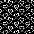 Seamless pattern with linear hearts — Stock Vector #59541237