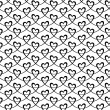 Seamless pattern with linear hearts — Stock Vector #59541249