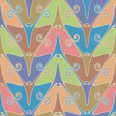 Seamless pattern with color butterflies — Vecteur