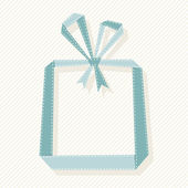 Gift box from paper ribbon — Stock Vector
