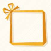 Origami gift frame from ribbon — Stock Vector
