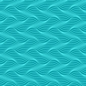 Seamless pattern of wavy line — Stock Vector
