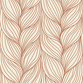 Seamless pattern with braids weaving — Cтоковый вектор