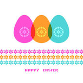 Easter color egg with decoration — Stock Vector