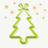 Origami Christmas tree banner — Stock Vector