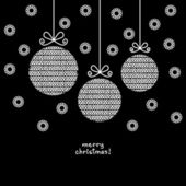 Christmas ball of doodle knitted shapes — Stockvektor