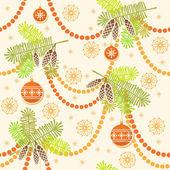 Christmas seamless pattern with decoration — Stock vektor