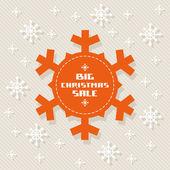Snowflake tag - Christmas sale — Stock Vector