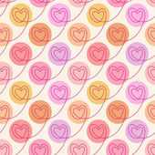 Polka dot hearts seamless pattern — Stock Vector