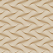 Seamless pattern of wavy lines — Cтоковый вектор