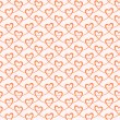 Elegant seamless pattern with hearts — Stock Vector #59621467