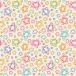Seamless pattern with color stars of doodles — Stock Vector #59629321