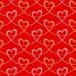 Seamless pattern with hearts of pink ribbons — Vector de stock  #59629605