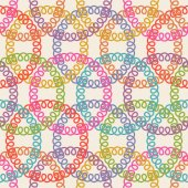 Seamless pattern with circle of doodle — Stock Vector