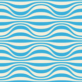 Seamless pattern with blue wavy strips — Stock Vector