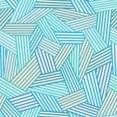 Abstarct blue linear seamless pattern — Stock Vector
