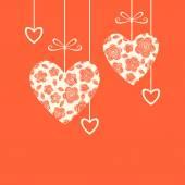 Projeto de ornamento do coração — Vetorial Stock