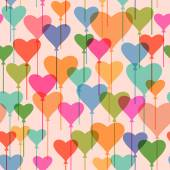 Seamless pattern with heart balloons — Vetorial Stock