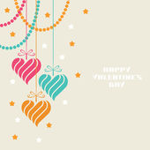 Festive decoration with color hearts — Vetorial Stock
