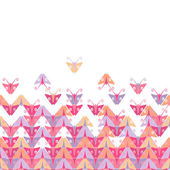 Background with mosaic of butterflies — Stock Vector