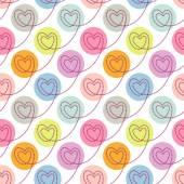 Polka dot cute seamless pattern — Stock Vector