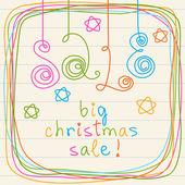 Doodles inscription - big christmas sale! — Stock Vector