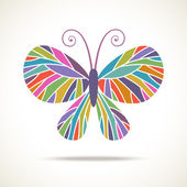 Color butterfly icon — Stock Vector