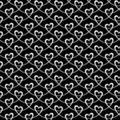 Seamless pattern with linear hearts — Stock Vector