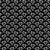 Seamless pattern with linear hearts — Stok Vektör