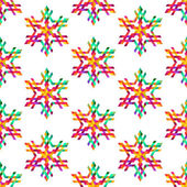 Seamless pattern with color snowflakes — Vecteur