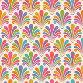 Seamless pattern with color shells — Stock Vector