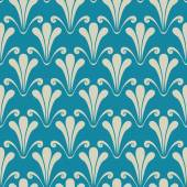Abstract blue floral seamless pattern — Stock Vector