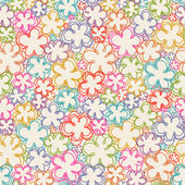 Seamless pattern with flowers of doodles — Stock Vector