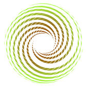 Twisted green circle design element — Stockvector
