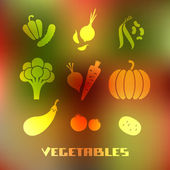 Vegetables icon on blurred background — Stock Vector